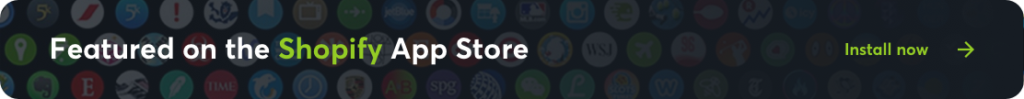 Featured on The Shopify AppStore